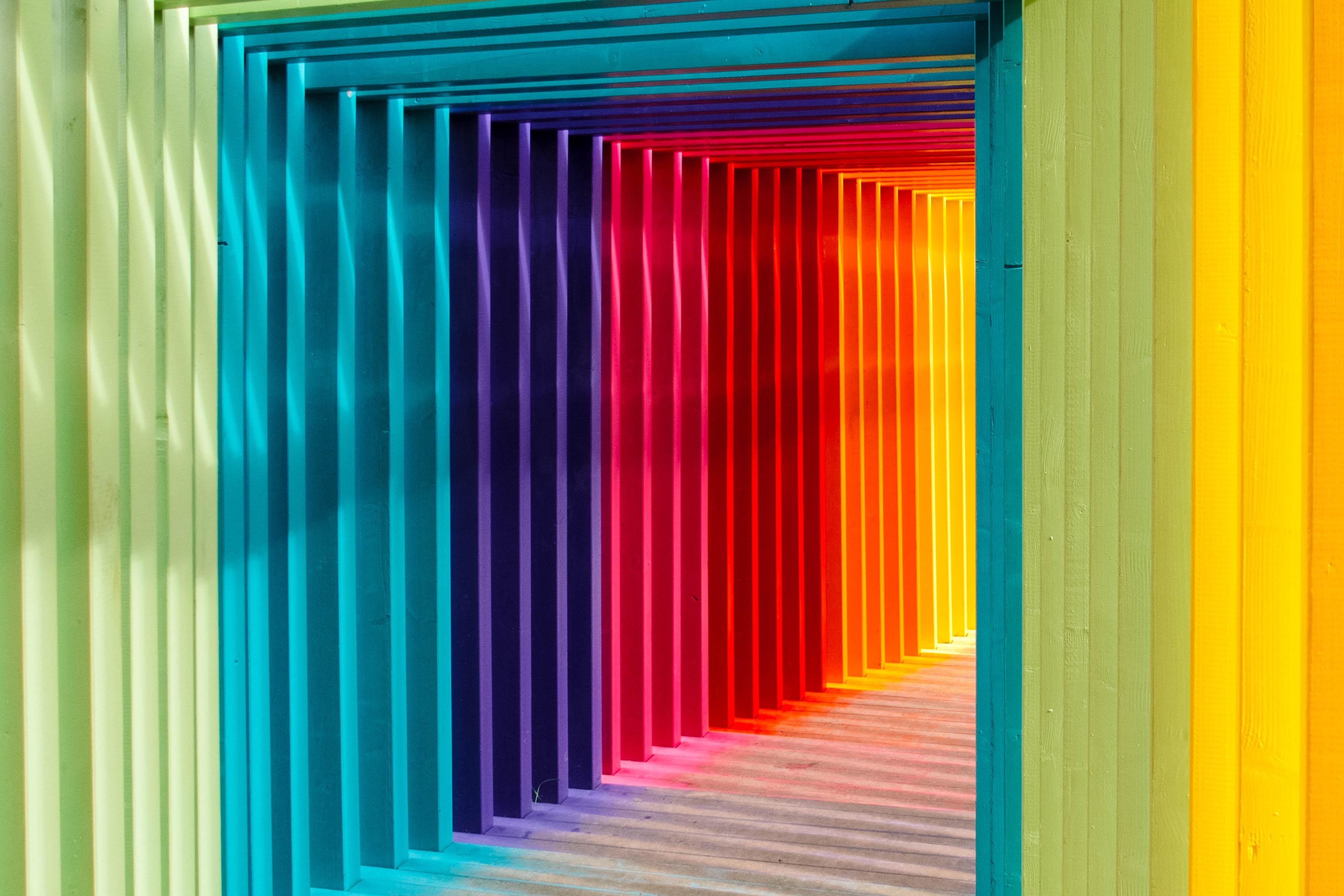 peinture du futur multicolor